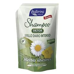 SHAMPOO BALLERINA HIERBAS SILVESTRE DP 900ML.